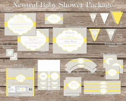 Neutral Baby Shower Package